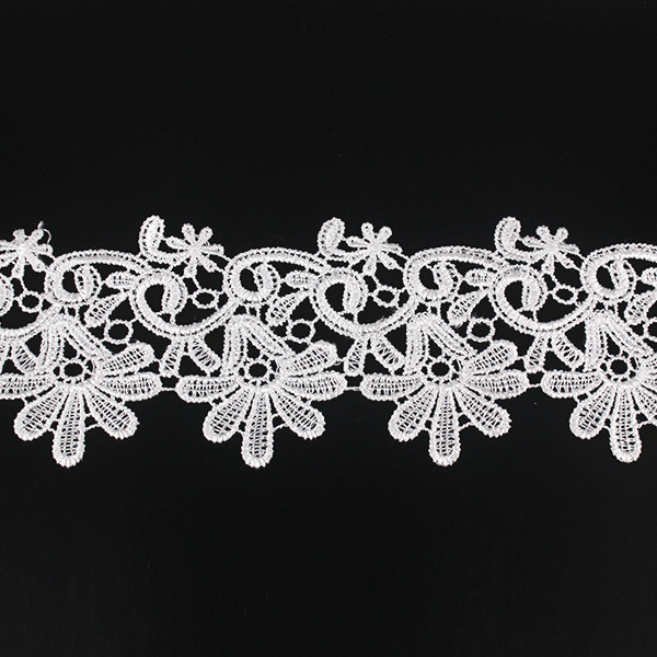 Embroidered Water Soluble Trimming Embellishment Craft Lace Fabric Trim Applique Scrapbooking Venise Sewing Supplies 28yd/T1279