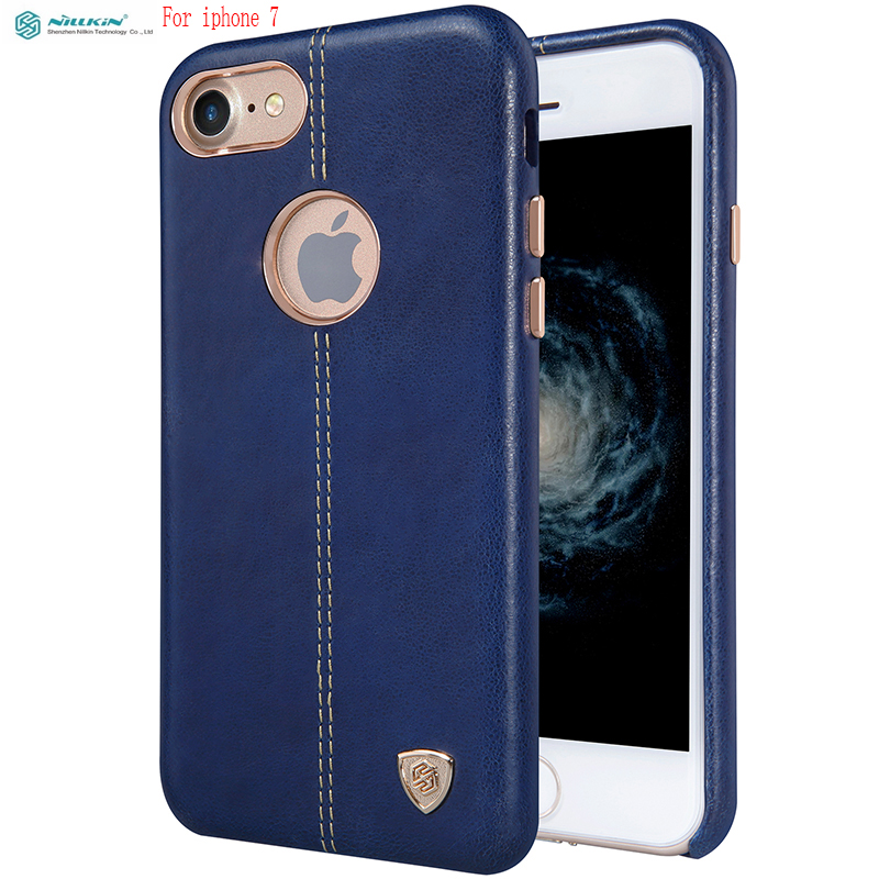 For iphone 7 case Nillkin Englon PU Leather back Cover Case Vintage lether For iphone 7 cover work with magnetic car holder