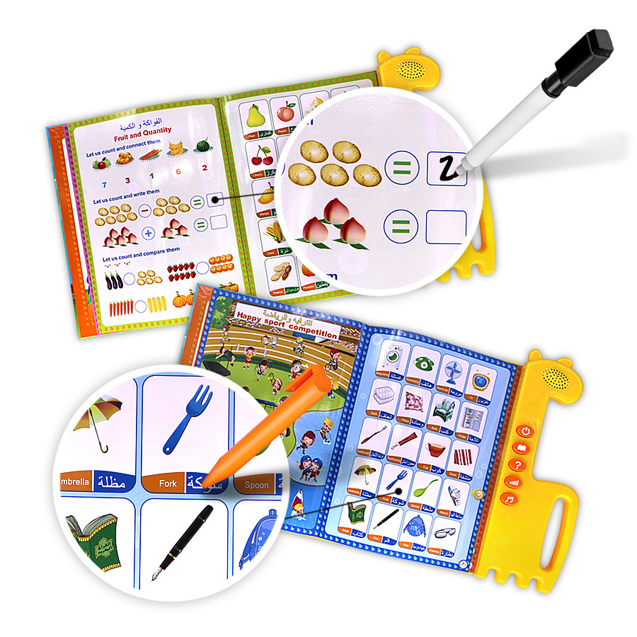 US $18 71 10% OFF|New English+Arabic Design Toys Children Electronic  Learning Machines Islamic Holy Quran Toy Worship + Word + Letter+numbers-in