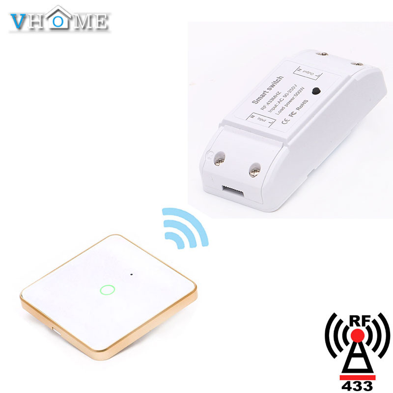 Vhome 433Mhz 86 Wall Panel Wireless Remote Control Switch Transmitter 1 2 3 Sensor RF Receiver For Bedroom Ceiling Light LampVhome 433Mhz 86 Wall Panel Wireless Remote Control Switch Transmitter 1 2 3 Sensor RF Receiver For Bedroom Ceiling Light Lamp
