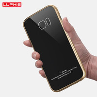 Luxury Anti Scratch Shockproof Case For Samsung Galaxy S7 S7 Edge Ultra Thin Metal Frame Bumper