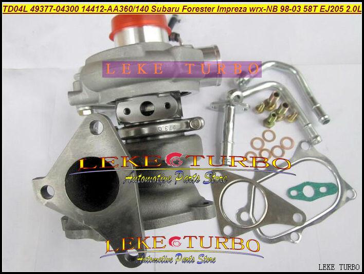 TD04L TD04HL-13T 49377-04300 14412-AA360 14412-AA140 Turbo Turbocharger For SUBARU Forester;Impreza WRX-NB 98-03 58T EJ205 2.0L turbo td04l 49377 04200 14412 aa140 turbocharger for subaru forester impreza 1997 58t ej20 ej205 2 0l 211hp with gaskets pipe