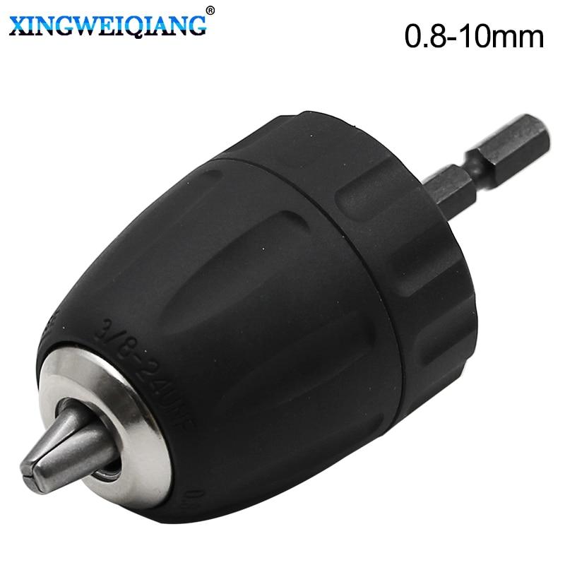 Drill Chuck Keyless Converter Clamping Range 0.8-10mm Thread 3/8