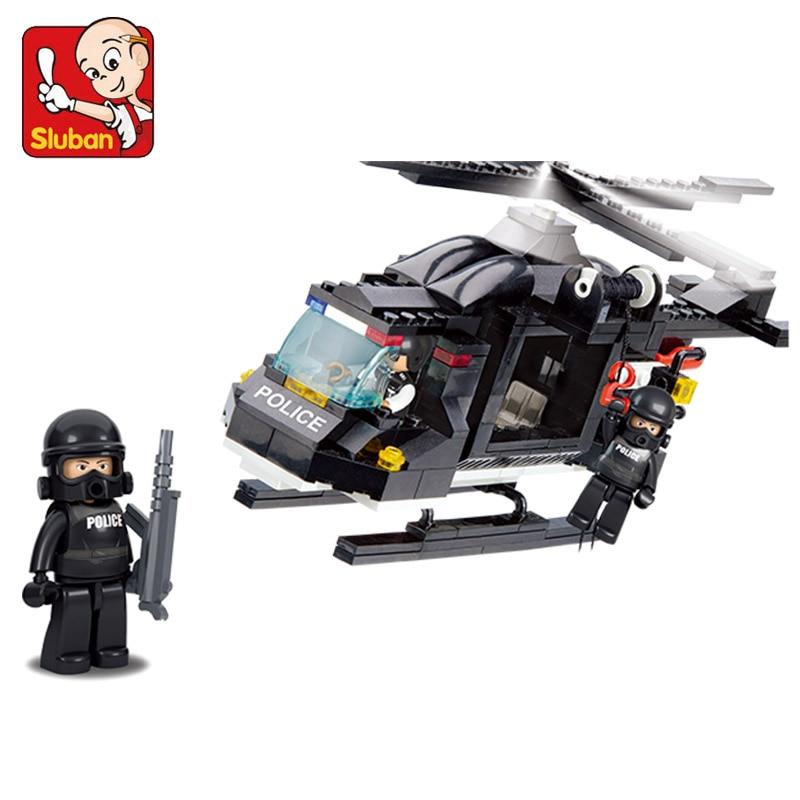 Sluban Building Blocks Riot Police Helicopter 219 PC Set New