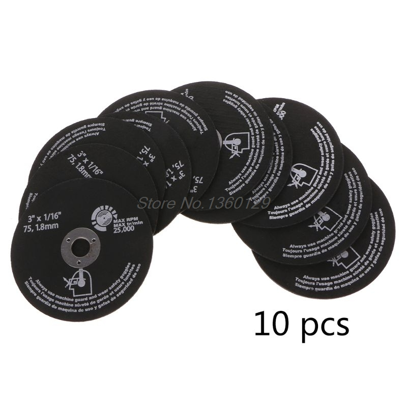 10pcs/Set 1mm Circular Resin Grinding Wheel Saw Blades Cutting Wheel Disc For Metal Cutting Wholesale&DropShip