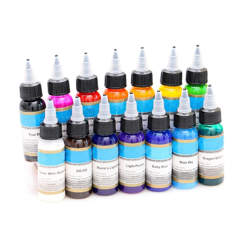 Professional Permanent Makeup Pigment Color Tattoo Ink Kit 14 Colors Micro Pigment Makeup Bloodline Tattoo Pigment Set 30ML