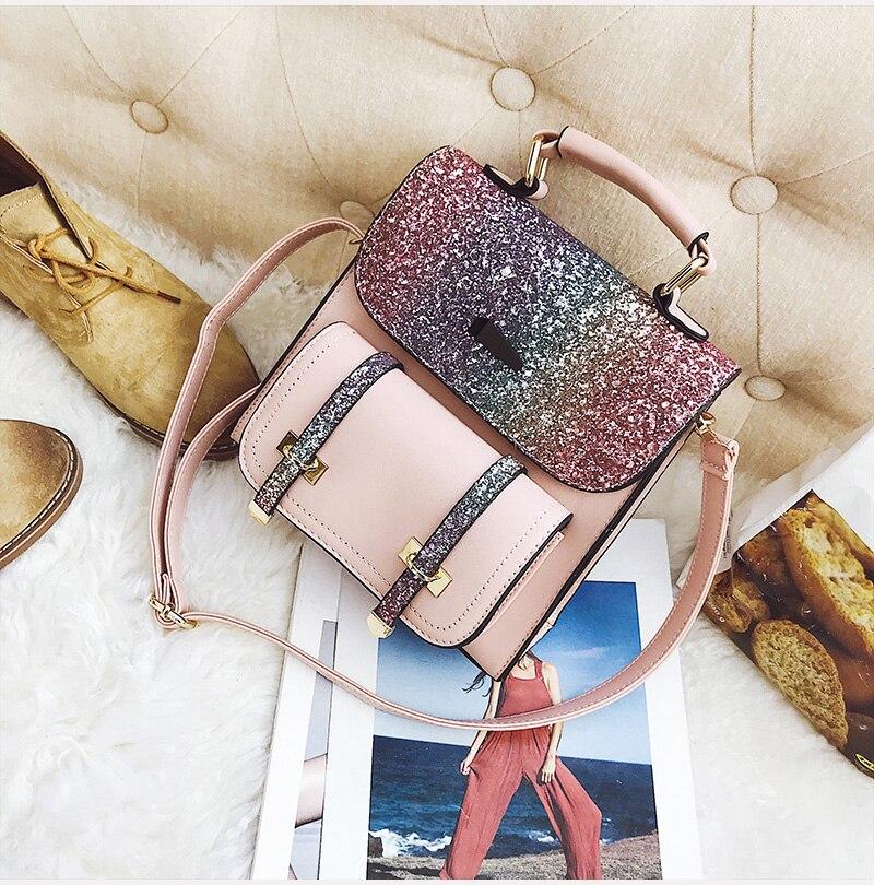 75dcecb8a5 Viaggio Femminile Sacchetto Pink Zaino Modo Di black Da Threepeas silver  Donne Borsa gold Paillettes Multiuso pqBwv