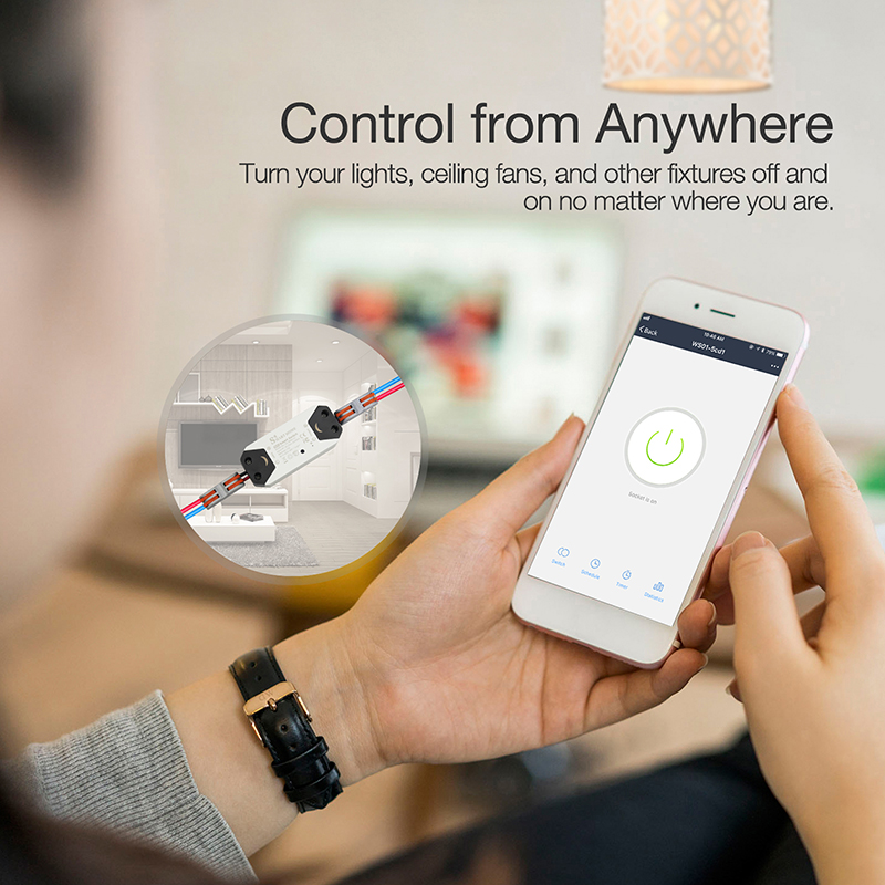 Smart Light Switch Remote Control Universal Breaker Timer Wireless DIY WiFi Works with Alexa Google Home Smart Home Automation in Switches from Lights Lighting
