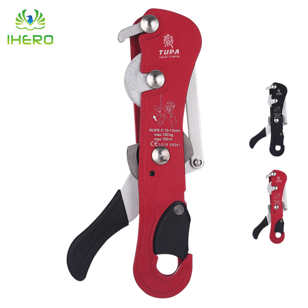 Aluminum Anti-panic Self-Braking Stop Descender Rock Climbing Mountaineering Rescue Safety Belay Device aluminum anti panic self braking stop descender rock climbing mountaineering rescue safety belay device