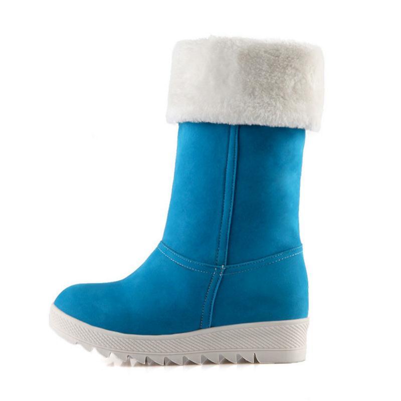 Calzado Zapatos Redonda Gruesa Tamaño amarillo 43 Nieve azul Colores De Piel 34 Ternero Caliente Pisos Botas Mujeres Para rojo Punta Mediados Mujer Rizabina Negro 4 ZqTwTO