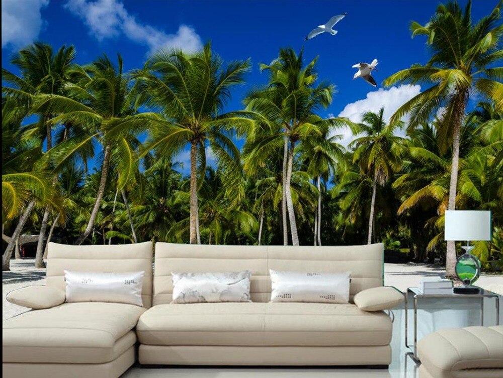 Carta da parati paesaggio murales natura vista mare 3d for Carta da parati moderna per soggiorno