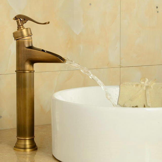 Free shipping Antique finish Brass Faucet Bathroom Basin Sink ...