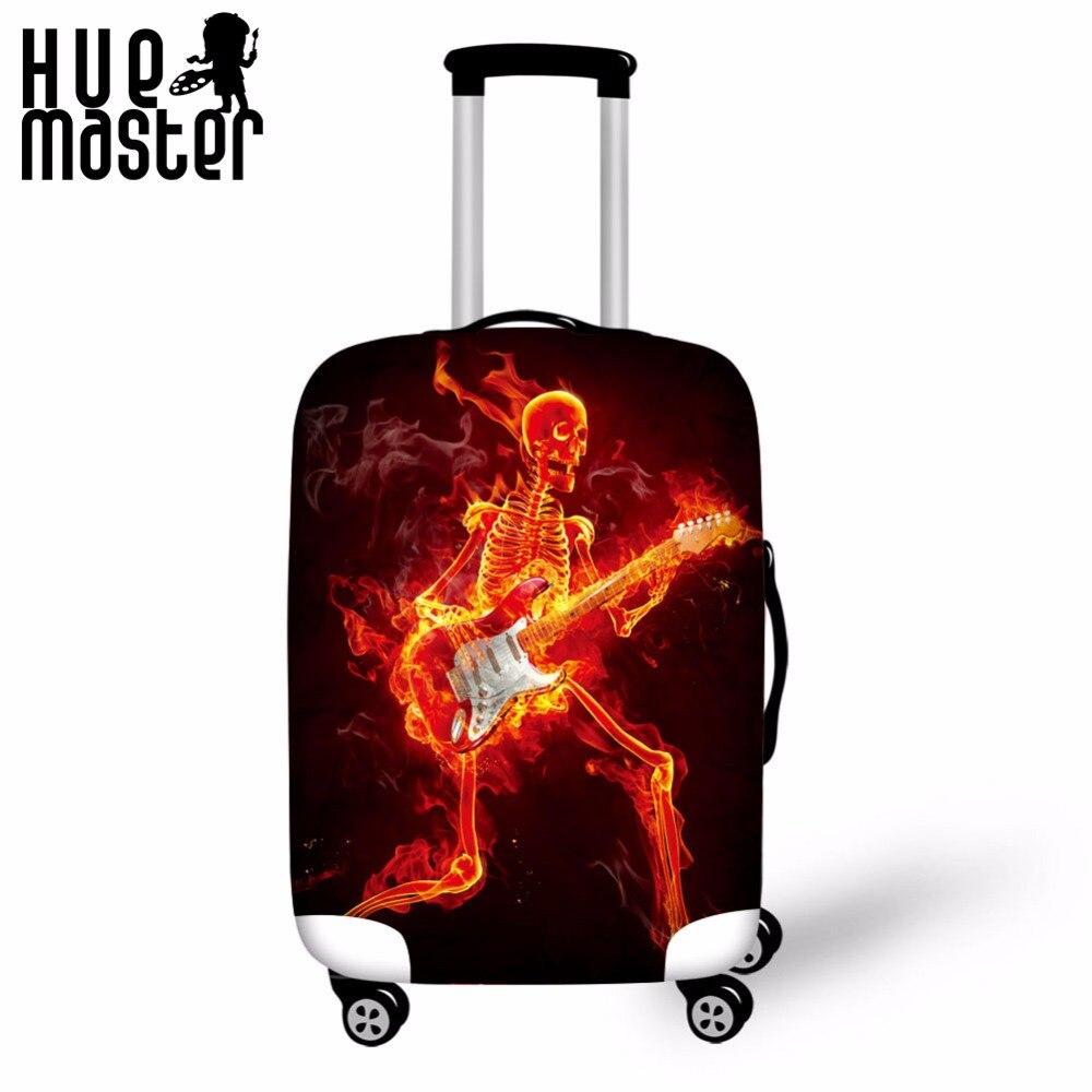 Bolsa de viaje cubierta fuego hombre impresiones cubierta de equipaje impermeable elasticidad protectora Tapas Koffer accesorios viaje