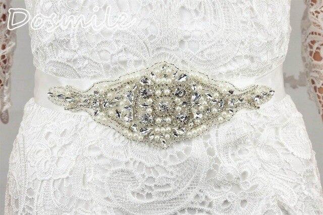 Romantic Sexy Wedding Bridal Belts Crystal Beading Bridal Dress Accesories Sash