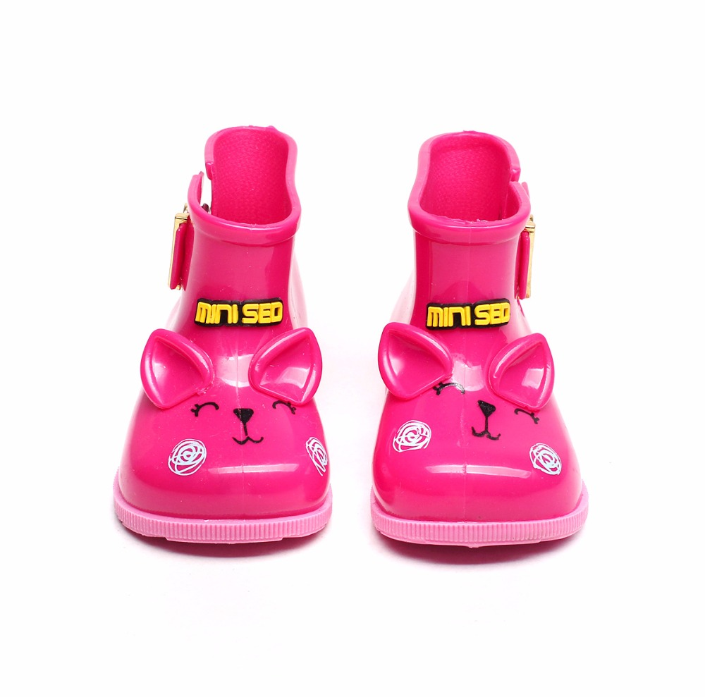 167d26632c112 US $10.56 30% OFF|Mini Sed Brand Children Cat Rain Boots Girls Jelly Water  Boots Princess Shoes Soft Boots KIDS Anti Skid Shoes-in Boots from Mother &  ...