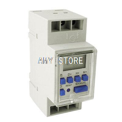 Day Week Reset Digital Programmable Timer Switch DC 12V TP8B16 dc 12v led display digital delay timer control switch module plc automation new