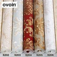 Red/White/Brown/Beige/Bronze European Luxury Textured Damascus Vinyl Wallpaper Home Decor PVC Living Room Background Wall Paper