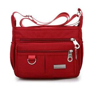 جديد السيدات أزياء حقائب كتف للنساء مصمم للماء حقيبة يد من النايلون سستة المحافظ رسول Crossbody حقيبة sac