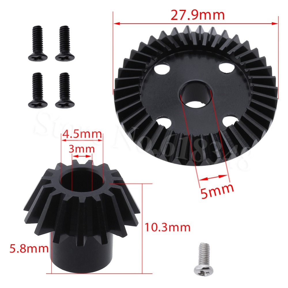 Metal Mechanism Differential Gear 38T & Diff Bevel Pinion 15T for WLtoys 1/18 A949 A959 A959-B A969 A969-B A979 A979-B A949-23 new arrivel wltoys upgrade metal planetary gear 1 18 a949 a959 a969 a979 a959 b a969 b a979 b rc car part