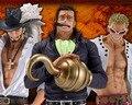 "Free Shipping 11"" One Piece Anime Shichibukai Mihawk Crocodile Doflamingo Boxed 28cm PVC Action Figure Collection Model Doll Toy"