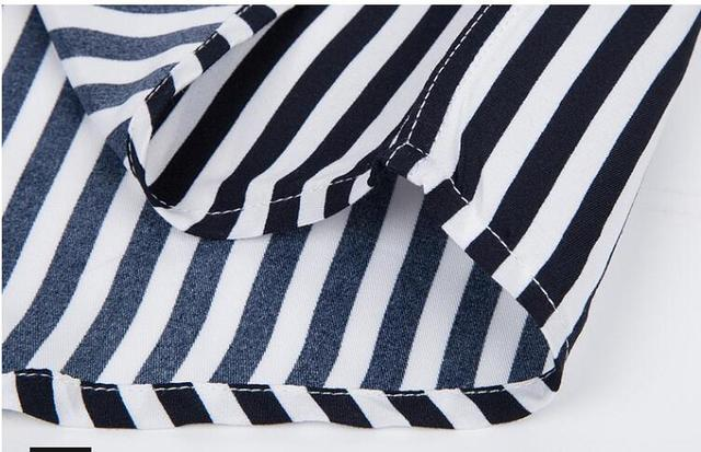 Men's Cotton Long Sleeve Striped Slim Fit Shirt