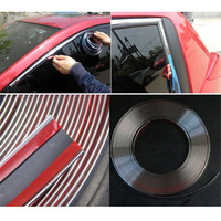 MAYITR 15m 15mm Car Chrome Moulding Trim Strip Tape DIY Decoration Auto Door Edge Guard Protector