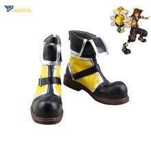 Kingdom Hearts Sora Giallo Cosplay Stivali Scarpe Su misura