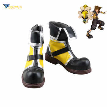 Kingdom Hearts Sora Yellow Cosplay Boots Shoes Custom Made - DISCOUNT ITEM  27% OFF All Category