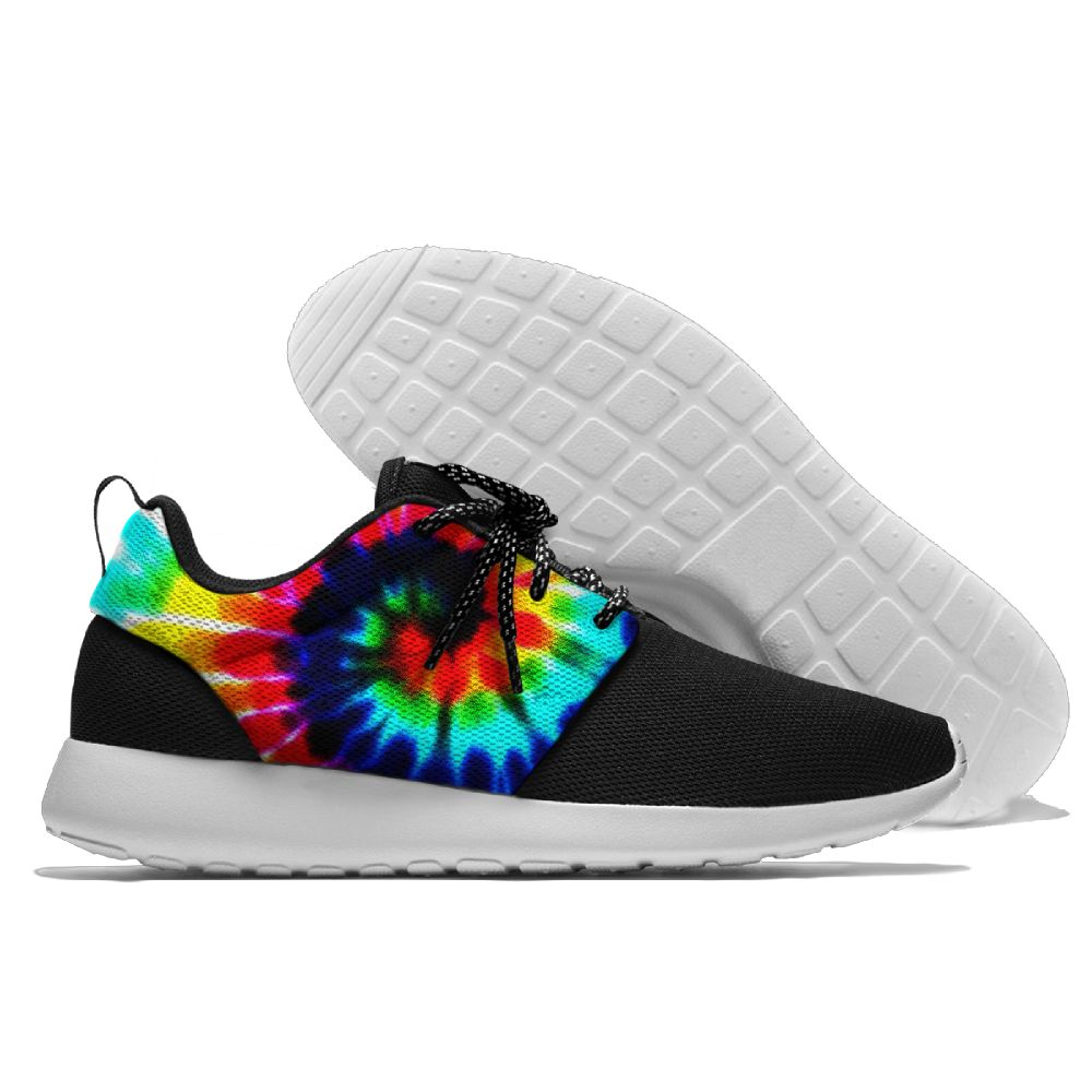 b4992ab7f1182 US $28.7 22% OFF Multicolour Tie Dye Sports Shoes Rainbow Sneaker  Lightweight Classical Amateur Running Shoes For Mens And Womens-in Running  Shoes ...