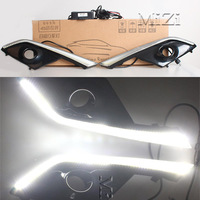 1Set LED DRL Daytime Running Lights 12v With Fog Lamp Hole Waterproof For Mazda CX 3