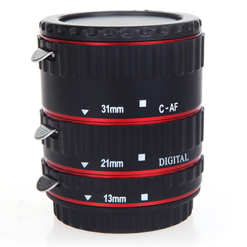 TTL Auto Focus AF Macro Extension Tube Ring for EF EF S Canon lenses Red