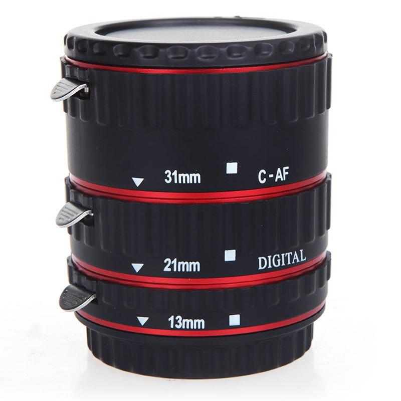 TTL Auto Focus AF Macro Ring Tubo di Estensione per EF EF-S Canon Rosso