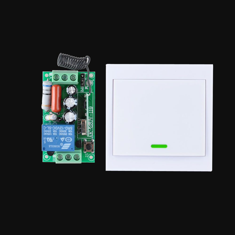 AC 220V Receiver Wireless Remote Control Switch Wall Panel Remote Transmitter Hall Bedroom Ceiling Lights Wall Lamps Smart Home