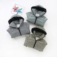 Kids Cotton-padded Clothes Hooded 2017 New Korean Plaid Baby Boys Outerwear/Jackets Casual Boy Down/Parkas Children Clothing Top