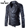 New Fashion Design Leather Jacket Male 2017 Men PU Leather Jacket Slim Turn-down Collar Male Jacket Good Quality MWP272