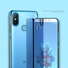 купить Clear Slim Plating Soft TPU Phone Case For Xiaomi Redmi S2 6A 5A Note 6 5 4 Hybrid Back Cover For Xiaomi Redmi 6 Note 5 Pro DYee дешево