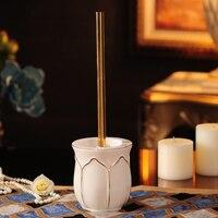 European ceramic toilet brush set toilet brush toilet brush base toilet cleaning brush bathroom fur LO524553