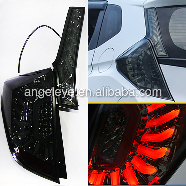 2014 year For Honda for Fit Jazz LED Rear Lamp Tail Light Dark Black Color LH