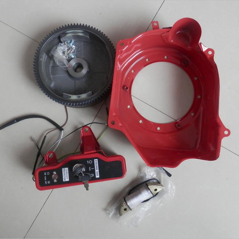 2kw electric start kit w/o starter motor for honda gx160 gx200 & more 2 5
