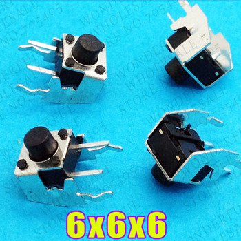 100pcs lot 6x6x6 mm Vertical Tactile Switches Push Button Tact Switch 6 6 6 mm