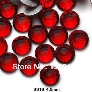 Frete grátis. Luz atacado sião cor falt volta rhinstone1440pcs / pack SS16 3.8 - 4 MM cristal Nail Art strass
