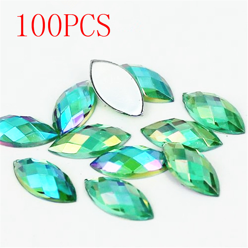 ᐃVenta caliente 100 pieces Flat back Marquise tierra facetas ...