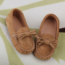 New Children Shoes for Girls Genuine Leather Shoes Flats Aged 1-3 Fashion Bowtie Toddler Baby Shoes Girls Shoes Moccasins Loafer