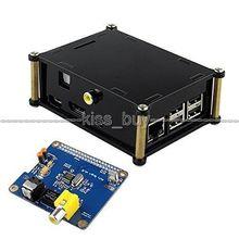 HIFI DiGi + carte son numérique I2S SPDIF fibre optique RCA I2S Interface pour Raspberry Pi 3 /2 B B + A + volumio + étui