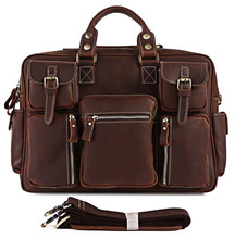 Very Hot Selling Rare Crazy Horse Leather Men's Briefcase Laptop Bag Travel Bag Leather 7028R-1