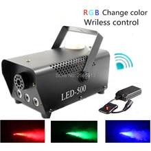 Controle Sem Fio de alta Qualidade LEVOU 500 w Máquina de Fumaça/Cor RGB LED Fog Machine/Fogger Profissional Com LED luzes/Smoke Ejetor