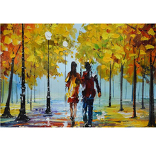 High quality pure hand-painted oil painting abstract decoration home sitting room office draw romantic scenery