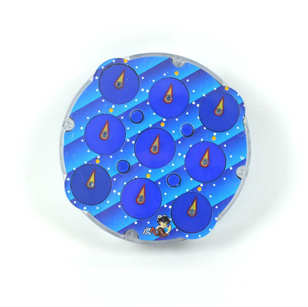 Lingao azul transparente cubo magico relógio abs professional magia relógio de inteligência engrenagem cubo brinquedos 10.8*2cm