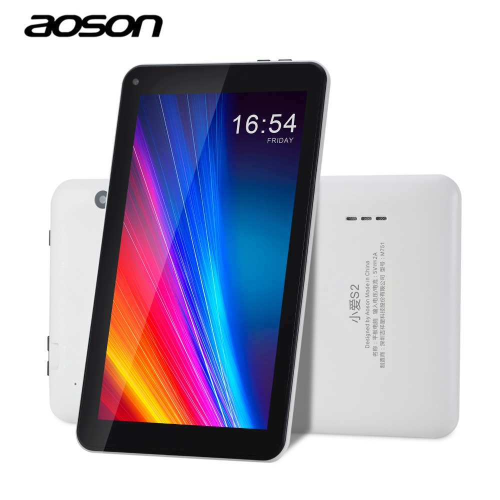 New Arrival 7 inch Tablet PC Aoson M751 8GB 1GB 1024*600 Android 5.1 Quad Core Dual Cameras Bluetooth Multi languages PC Tablets car charger for tablet pc cube u10gt u10gt2 aoson m19 more black dc 9v