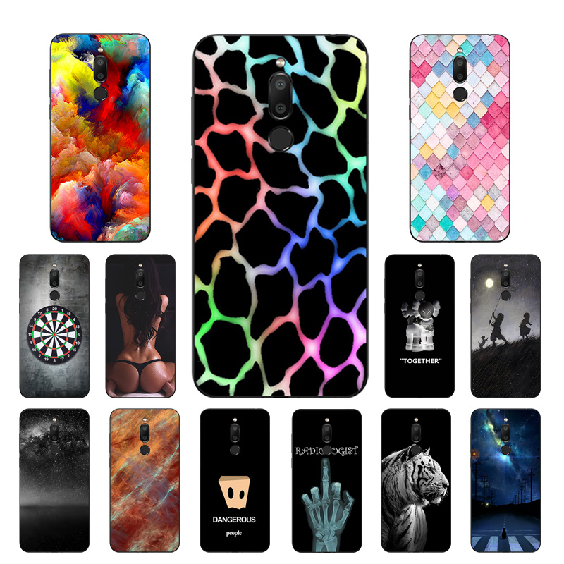 Phone Case For Meizu M6T Case Cover Black TPU Protective Soft Silicone Back DIY Color Mesh Printed Fundas 5.7 Inch For Meizu M6T